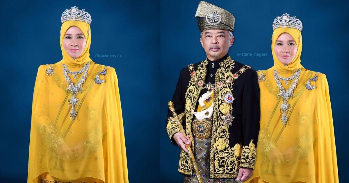 Tuanku Sangat Cantik Netizen Puji Penampilan Raja Permaisuri Agong Menggayakan Persalinan Rasmi Kuning Di Raja Hijabista