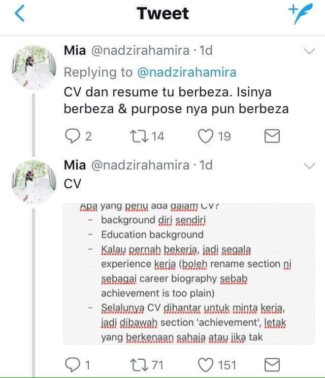 Ini Perbezaan Di Antara Cv Dan Resume Yang Wajib Graduan Tahu Sebelum Memohon Kerja Hijabista